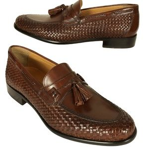 JOHNSTON & MURPHY 9M Brown Leather Tassels Loafers